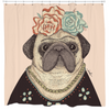 Frida Pug-lo Shower Curtain