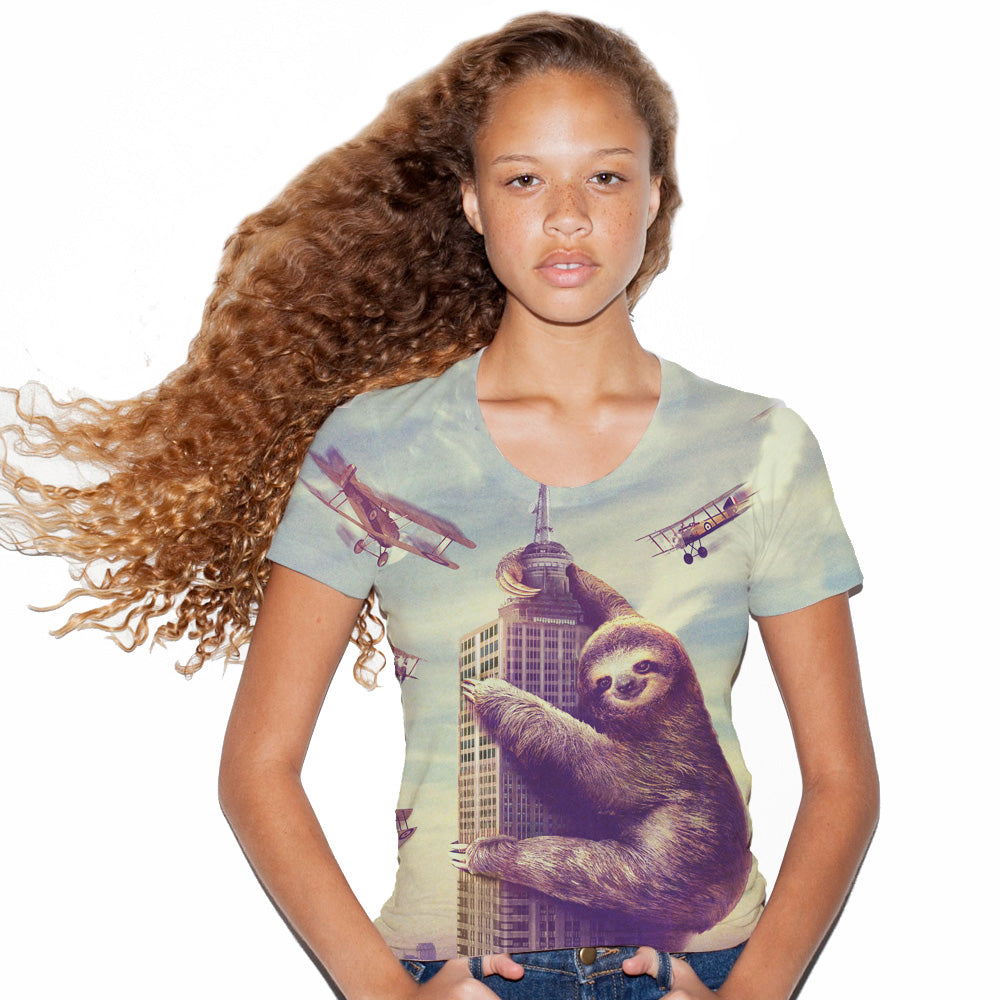 Slothzilla Women's Graphic Tee Scoop Top