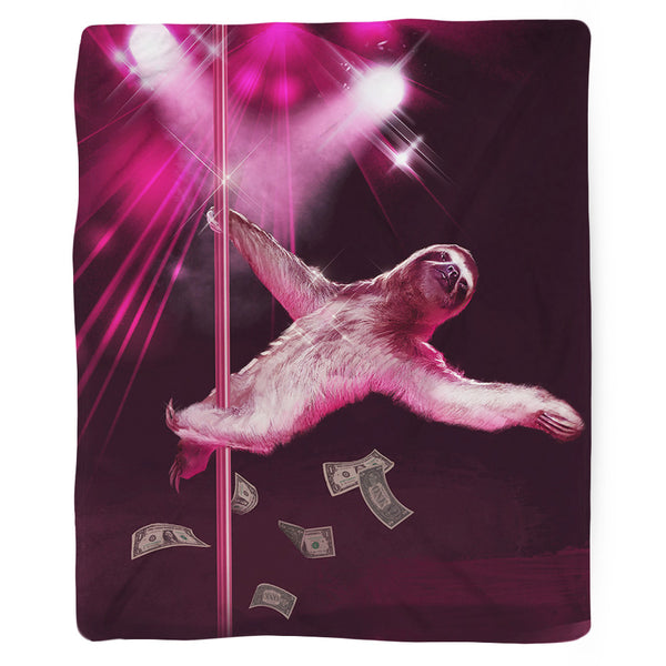 Stripper Sloth Blanket