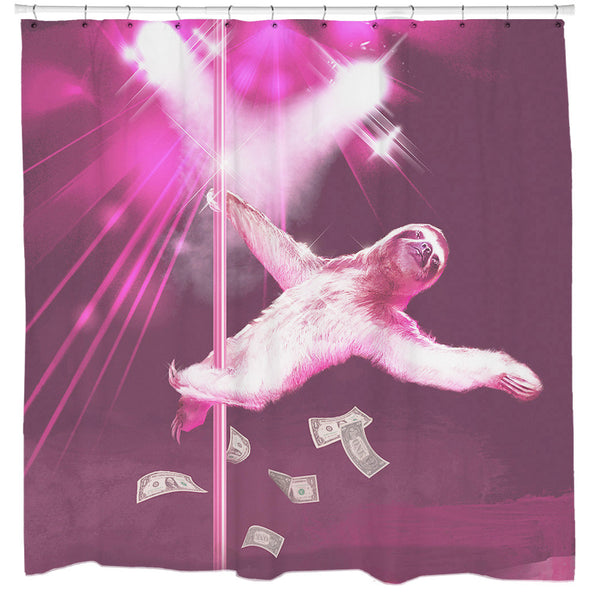 Stripper Sloth Shower Curtain
