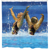 Synchronized Sloth Shower Curtain