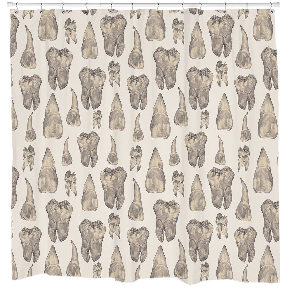 Teeth Shower Curtain