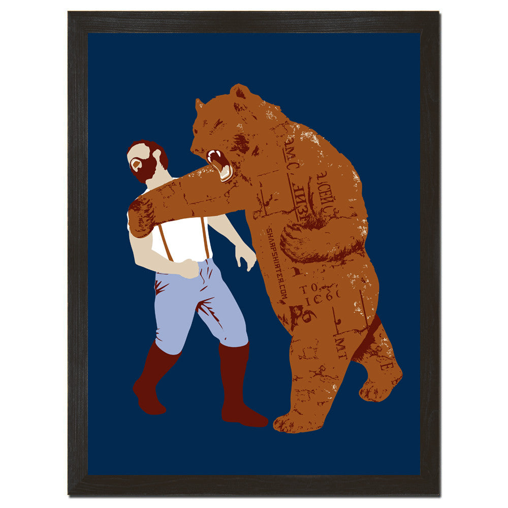 The Bear Strikes Back Art Print