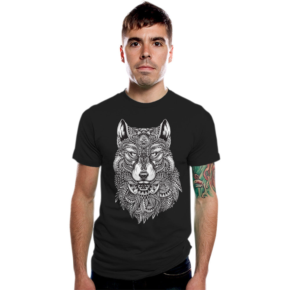 Tribal Wolf Men's Graphic Tee