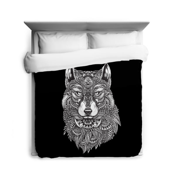 Tribal Wolf Duvet Cover