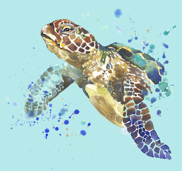 Turtle Splash Shower Curtain