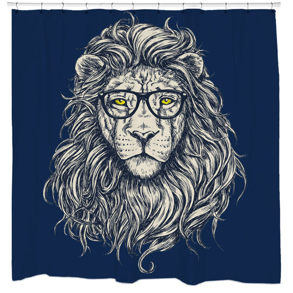 Wise Lion Shower Curtain