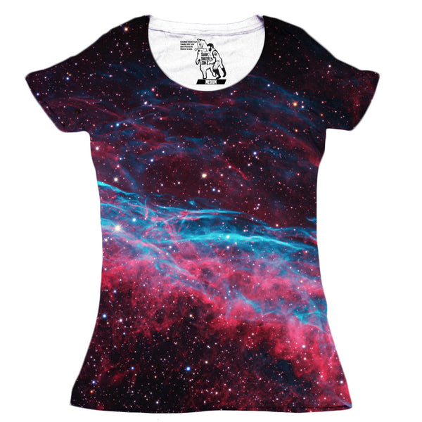 Veil Nebula Women's Graphic Tee Crewneck Top