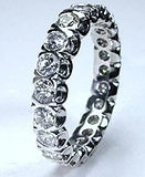 2.01ct Round Diamond Eternity Ring Wedding Band 18kt W/G JEWELFORME BLUE