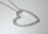 1.41ct Diamond Heart Shape Necklace Platinum JEWELFORME BLUE