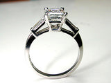 2.29ct Emerald Cut Diamond Engagement Ring GIA certified platinum JEWELFORME BLUE