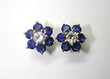 1.82ct Sapphire and Diamond Earrings 18kt Yellow JEWELFORME BLUE