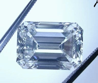 10.11ct F-VVS2 Loose Diamond Emerald Cut Loose Diamond certified JEWELFORME BLUE