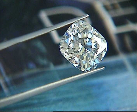 GIA certified 6.02ct F VS2 GIA certified Cushion loose Diamond Any Size Any Shape JEWELFORME BLUE