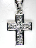 2.02ct Princess Diamond Cross Pendant 18kt White Gold  JEWELFORME BLUE