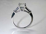 1.25ct Emerald cut Diamond Engagement Ring Platinum GIA certified JEWELFORME