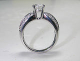 1.50ct Round Diamond Engagement ring Twist JEWELFORME BLUE 900,000 GIA diamonds
