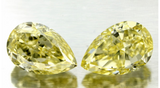 3.03ct Fancy Yellow Pear Shape Matching Pair Diamond JEWELFORME BLUE  GIA Certified pay 1