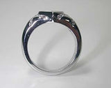 1.10ct F-VS Heart Shape Diamond Engagement Ring 14kt White Gold JEWELFORME BLUE not blue nile