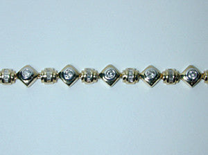 3.50ct Diamonds tennis Bracelet  JEWELFORME BLUE