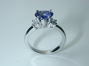 2.15ct Heart Shape Sapphire & Diamond Engagement JEWELFORME BLUE