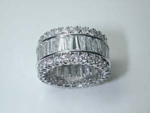 9.30ct Baguettes and Round Eternity Ring JEWELFORME BLUE