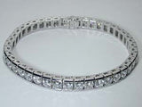 12.05ct Round Diamond Bracelet JEWELFORME BLUE