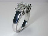 4.06ct G-VS1 Emerald  Cut Diamond Engagement Ring 18kt White Gold GIA certified JEWELFORME BLUE