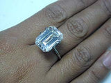 13.09ct D-VVS1 Emerald Cut Diamond Engagement Ring GIA certified Loose Diamond JEWELFORME BLUE