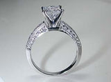 1.47ct F-SI1 Princess Cut Diamond Engagement Ring JEWELFORME BLUE GIA certified