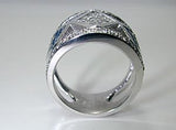 2.28ct Diamond and Sapphire Wedding Ring JEWELFORME BLUE