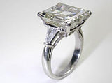 10.70ct Emerald Cut Diamond H-VS2 Platinum Diamond Engagement Ring GIA certified JEWELFORME BLUE