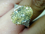 23.02ct Fancy Yellow Oval Shape Diamond Engagement Ring VVS2 GIA certified JEWELFORME BLUE