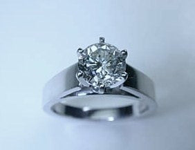 1.07ct Round Diamond Engagement Ring 18kt GIA certified JEWELFORME BLUE not blue nile