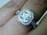 2.50ct G-VS2 Asscher Cut Diamond Engagement Ring GIA certified JEWELFORME BLUE