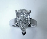 4.62ct Pear Shape Diamond Engagement Ring 18kt White Gold JEWELFORME BLUE GIA certified