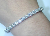 11.28ct Round Diamond Tennis Bracelet 18kt White Gold JEWELFORME BLUE Wholesale