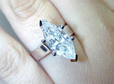 2.23ct I-VVS2 Marquise Shape Diamond Engagement Ring  GIA certified JEWELFORME BLUE