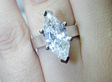 5.01ct H-VS1 Marquise Shape Diamond Engagement Ring  GIA certified JEWELFORME BLUE