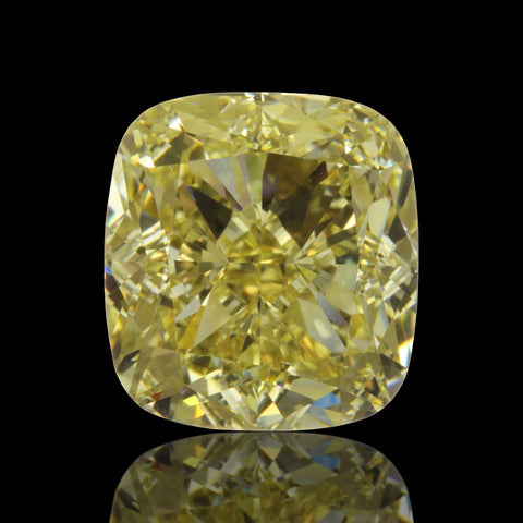 5.08ct Fancy Yellow Cushion Diamond Loose Diamond GIA certified JEWELFORME BLUE