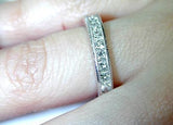 1.90ct Princess Cut Diamond Eternity Ring Platinum JEWELFORME BLUE