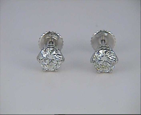 set with traditional great earrings prong h stud clarity in and karat pinterest the studs diamond of color mounting a are classic images mounted best g on carat itinerizer
