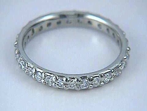 0.65ct Round diamonds Eternity Wedding Ring 18kt white Gold Anniversary JEWELFORME BLUE