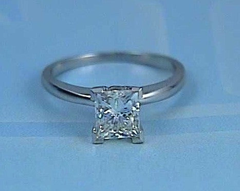 1.51ct Princess cut Diamond Engagement ring 18kt White Gold   JEWELFORME BLUE 900,000 GIA certified
