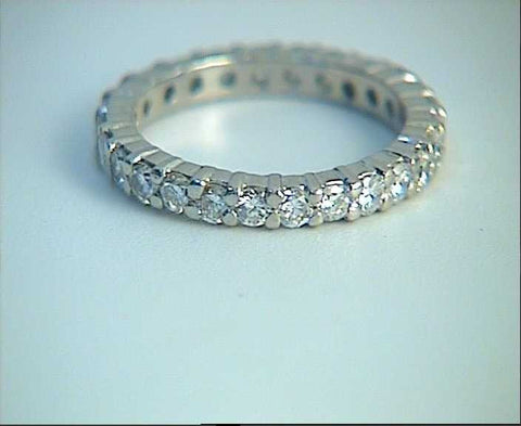 1.02ct Round Diamonds Eternity Wedding Ring 18kt White Gold JEWELFORME BLUE Stack Ring
