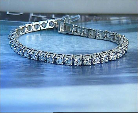 5.25ct Round Diamond Tennis 18kt Bracelet JEWELFORME BLUE