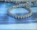 6.54ct Round Diamond Tennis Bracelet JEWELFORME BLUE