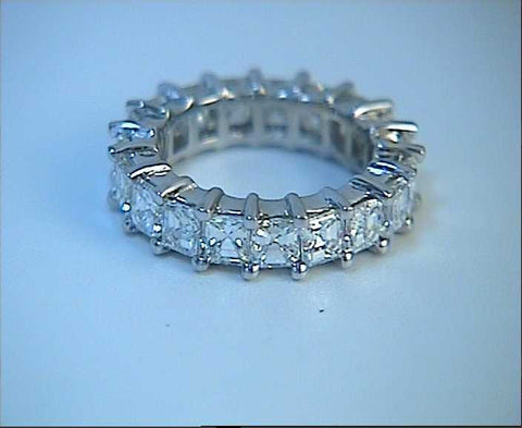 6.20ct Princess Diamond ETERNITY Wedding Ring JEWELFORME BLUE