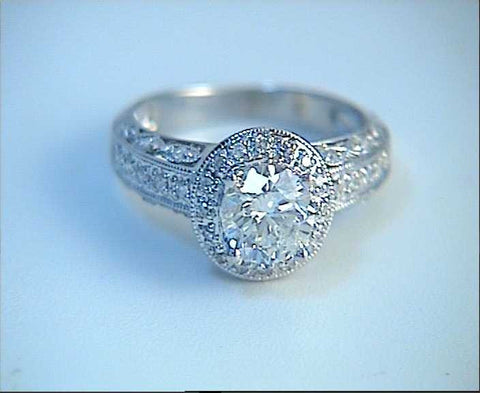 2.38ct F-VS2 Round Diamond Engagement Ring 18kt White Gold