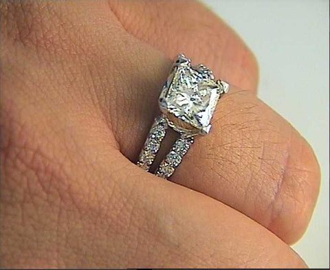 2.22ct G-VS1 GIA Princess Diamond Engagement Ring 18kt JEWELFORME BLUE GIA certified